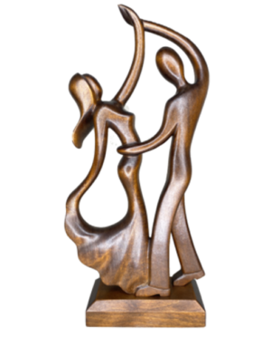 wooden statues couples